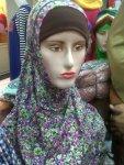 Jilbab syria motif bunga - hub. 08385562742