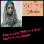 pasminah chifon +iner motif kupu - jilbab murah surabaya -hub. 08385562742